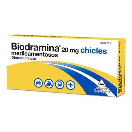 BIODRAMINA 20 mg 6 CHICLES...